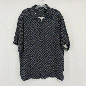 Claiborne Geometric Silk Button Front Shirt